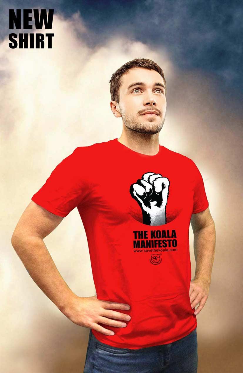 Mens Koala Manifesto tshirt