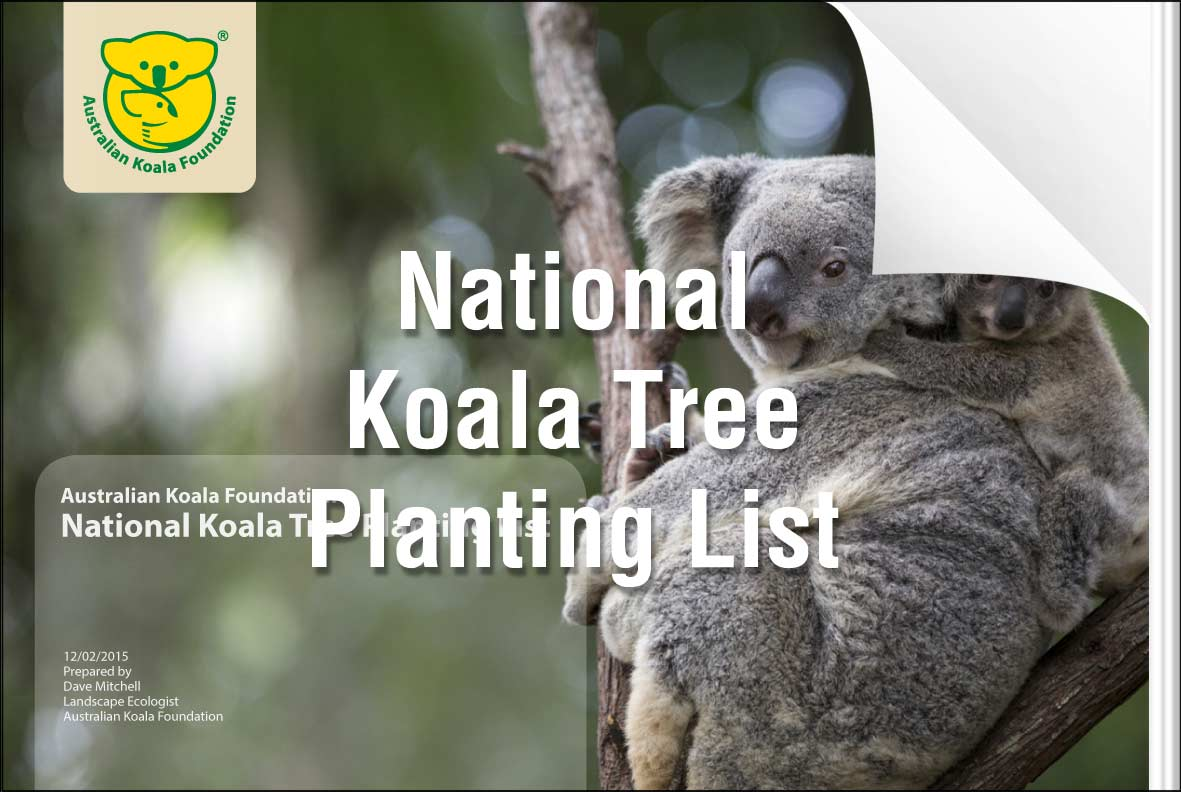 For a copy of the Tree List, please click here.