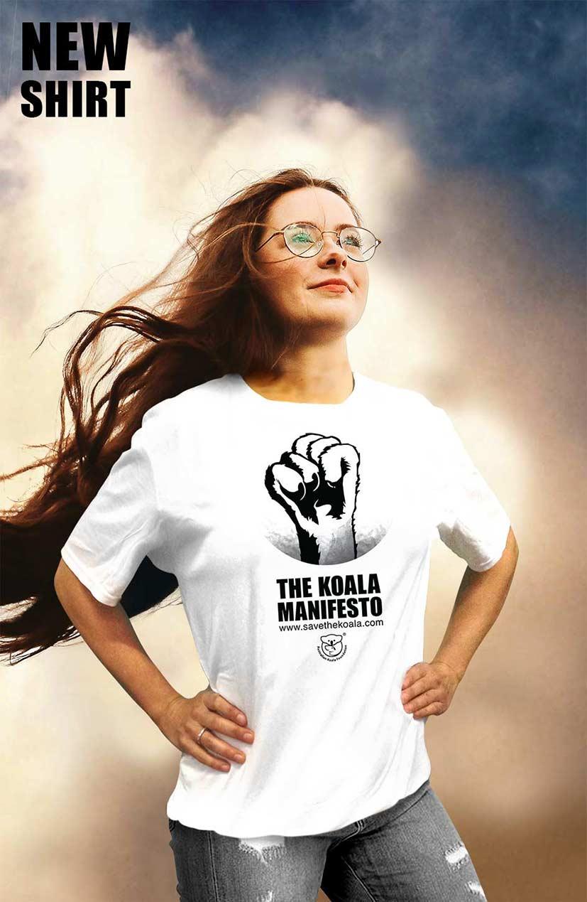 Womens Koala Manifesto tshirt