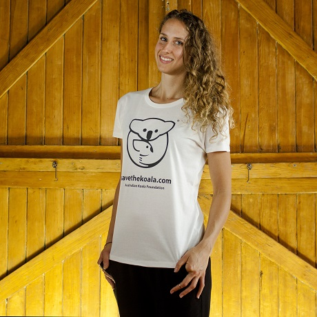 Ladies Logo White Tee