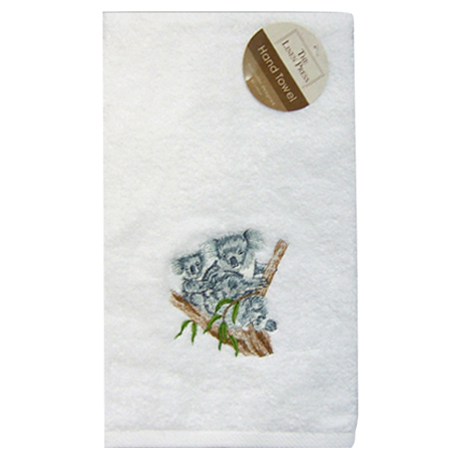 Embroidered Koala Hand Towel