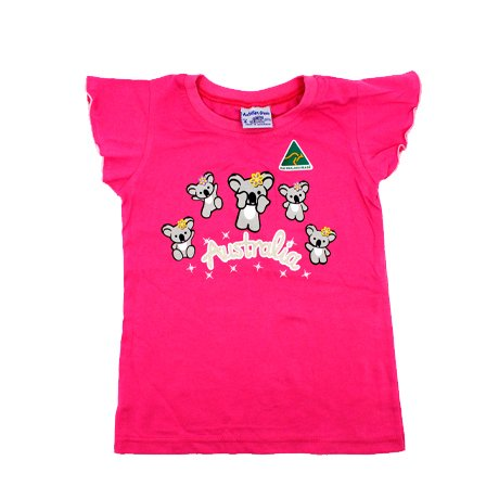 "Girl's Pink T-Shirt ""5 Cute Koalas"""