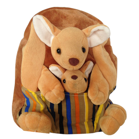 Backpack Kids Kangaroo Plush
