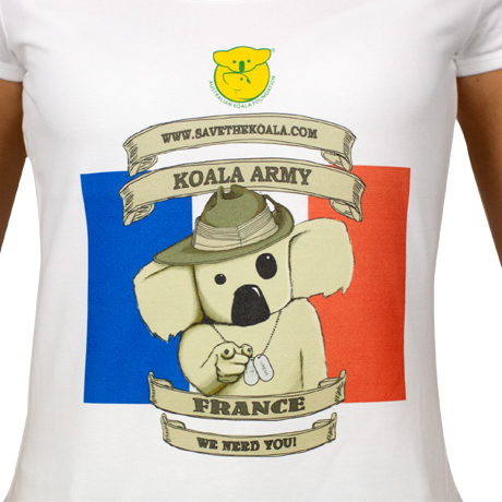 Ladies French Koala Army T-Shirt